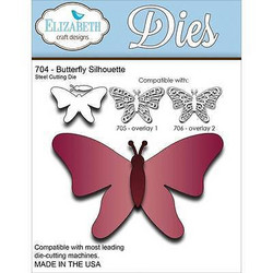 Elizabeth Craft Designs Butterfly Silhouette -stanssi