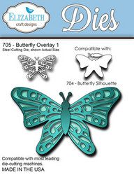Elizabeth Craft Designs Butterfly Overlay 1 -stanssi