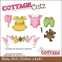CottageCutz Baby Girl Clothes -stanssisetti