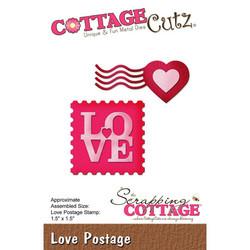 CottageCutz stanssisetti Love Postage