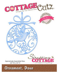 CottageCutz Ornament, Dove -stanssi