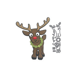 Elizabeth Craft Designs Ruby the Reindeer -stanssisetti