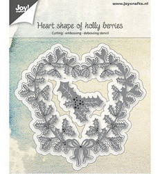 Joy! Crafts stanssi Heart Shape of Holly Berries