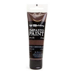 Finnabair Art Alchemy Impasto Paint, sävy Dark Chocolate