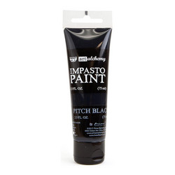 Finnabair Art Alchemy Impasto Paint, sävy Pitch Black