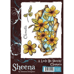 Sheena Douglass A Little Bit Sketchy leimasin Clematis