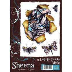 Sheena Douglass A Little Bit Sketchy leimasin Moths