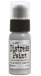 Distress Paint, sävy Brushed Pewter