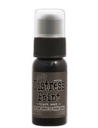 Distress Paint, sävy Black Soot