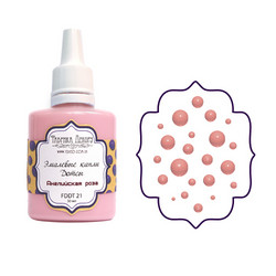 Fabrika Decoru Enamel Dots -helmiaine, sävy English Rose