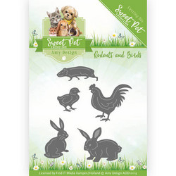 Amy Design Sweet Pet stanssisetti Rodents and Birds, eläimet