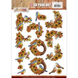 Amy Design Autumn Colors 3D-kuvat, Birds. Valmiiksi leikatut