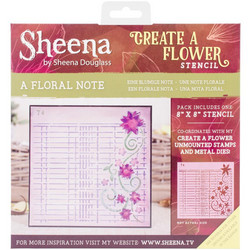 Sheena Douglass Create a Flower sapluuna A Floral Note
