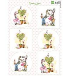 Marianne Design korttikuvat Bunny Love 2