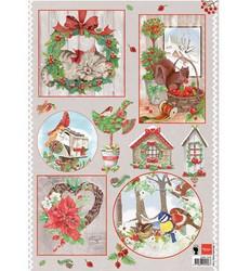 Marianne Design Country Christmas 2 -korttikuvat