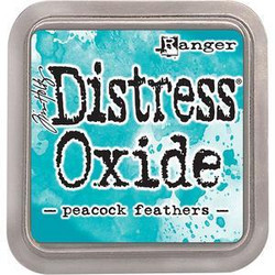 Distress Oxide -mustetyyny, sävy peacock feathers