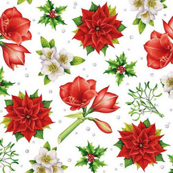 Servetti Christmas Flowers, 5 kpl