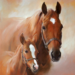 Servetti Horse With Foal, 5 kpl