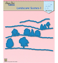 Nellie's Choice stanssisetti Landscape scenes 1, maisemat