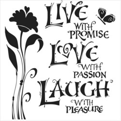 Crafter's Workshop sapluuna Live, Love, Laugh