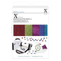 XCut Adhesive Glitter Shees, A5, Darks