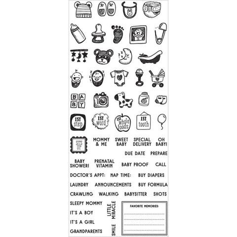 My Prima Planner leimasinsetti Baby Mini Icons & Words