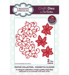Creative Expressions The Festive Collection stanssisetti Poinsettia Cluster
