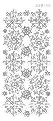 Ääriviivatarra, Lumihiutale, helmiäiskulta