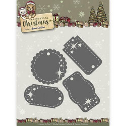 Yvonne Creations Celebrating Christmas stanssisetti Star Tags