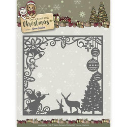 Yvonne Creations Celebrating Christmas stanssi Scene Square Frame