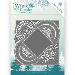 Jeanines Art Winter Classics stanssi Mirror Frame