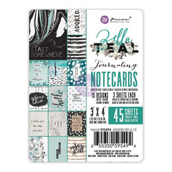 Prima Zella Teal Journaling Noteards,  3