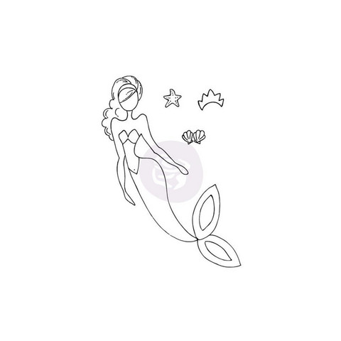 Prima Julie Nutting Mixed Media leimasin SeaSallie Mermaid