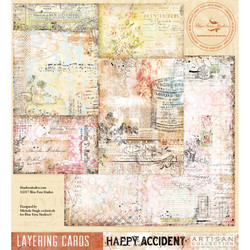 Blue Fern Studios Happy Accident skräppipaperi Layering Cards