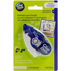 Glue Dots Tape Runner -teippirolleri. Permanent, 8.4 mm x 22 m