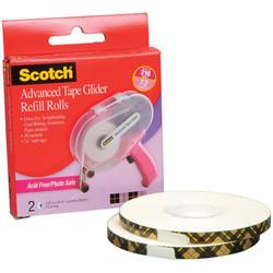 Täyttörullat Scotch Advanced Tape Glider -teippikoneeseen, 2 kpl, happovapaa