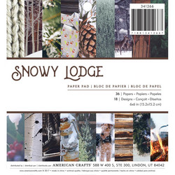 American Crafts paperipakkaus Photo Real Snowy Lodge