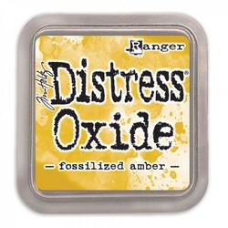 Distress Oxide -mustetyyny, sävy fossilized amber