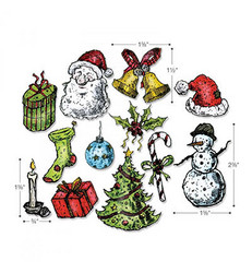 Sizzix Thinlits stanssisetti Tattered Christmas