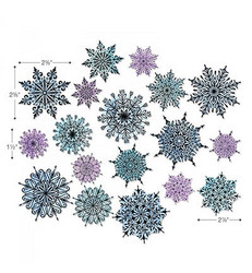 Sizzix Thinlits stanssisetti Swirly Snowflakes