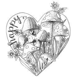 Spellbinders Happy Heart -leimasin