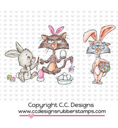 C.C.Designs leimasin Grouchy Bunny