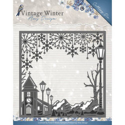 Amy Design Vintage Winter stanssi Village Frame Square