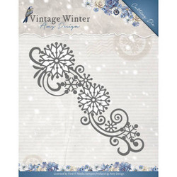 Amy Design Vintage Winter stanssi Snowflake Swirl Border