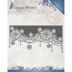 Amy Design Vintage Winter stanssi Snowflake Swirl Edge