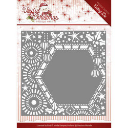 Precious Marieke Joyful Christmas stanssi Ribbon Frame