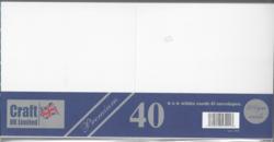 CraftUK korttipohjat ja kirjekuoret, valkoinen, 300 g, 6