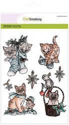 CraftEmotions leimasinsetti Christmas Pets 2