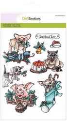 CraftEmotions leimasinsetti Christmas Pets
