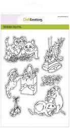 CraftEmotions leimasinsetti Christmas Pets 3